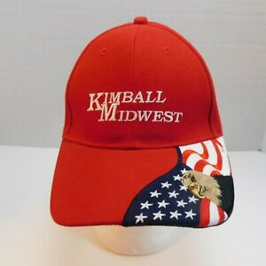 Kimball Midwest Red Hat Embroidered Eagle & Flag We Will Never Forget On Back
