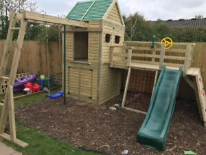 Heavy Duty Children's Climbing Frame 1 Tower Delux *NO Self Assembly required*