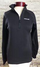 Avalanche Black Pull over Light Jacket Shirt Thumb Holes Size Medium Half Zip