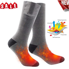 Heated Socks Battery Powered Electric Winter Heat Mens Ladies Thermal UK HOT!