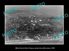 OLD POSTCARD SIZE PHOTO BLOIS LOIR ET CHER FRANCE AERIAL VIEW OF TOWN c1920 1
