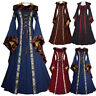 Women Vintage Victorian Renaissance Gothic Medieval Hooded Dress Cosplay Costume