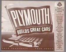 [61047] 1949 PLYMOUTH CAR MODELS BROCHURE (ONTARIO, CALIFORNIA DEALER)
