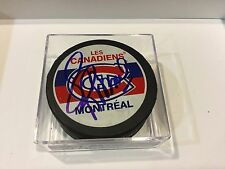 Montreal Canadiens Habs Larry Robinson Signed Hockey Puck Autographed b