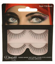 Dimples False Eyelashes 118 With Glue 2 Pairs Handmade Natural LOOK