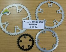 SHIMANO Chainrings 5 Hole 110 74 mm BCD PCD Chain Rings Ring Chainring 24 - 50 T