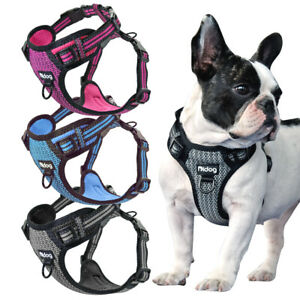 Reflective Dog No Pull Harness Front Leading Mesh Walking Vest French Bulldog