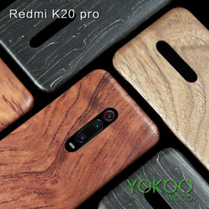For Xiaomi 9T Redmi K20 F2 Pro Enony Rosewood Real Wooden Back Slim Case Cover