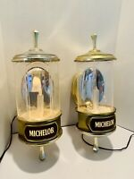 Vintage Pair Of Michelob Beer Sconce Lights / Signs