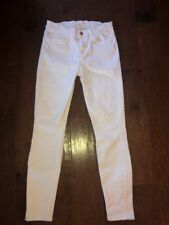 7 Seven For All Mankind Skinny Leg Jeans White Denim size 27 Free Shipping