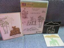 stampin up IN THE MEADOW & dies by dave MOUNTAIN MEADOW DIES-deer-NEW-lot + card