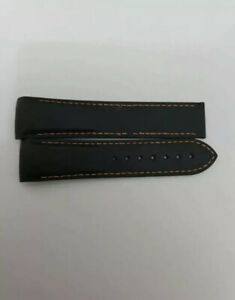 Genuine Omega Planet Ocean 22mm Black and Red Rubber Deployment Watch Strap