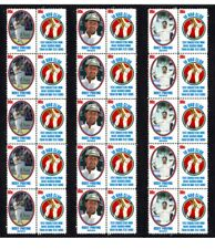 RICKY PONTING 10,000 TEST RUNS SET OF 3 MINT CRICKET STAMP STRIPS OF 10