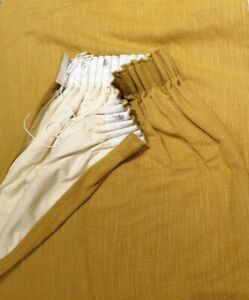 Loaf Single Long Curtain W142cm X D215cm Mustard