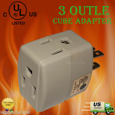 UL Listed 3 Out Cube AdapterPS36U 3 Out Cube Adapter . 125V/15A/1875W/60Hz .