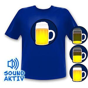 LED Equalizer leuchtendes Bier Party T-Shirt Fasching Karneval Oktoberfest Shirt