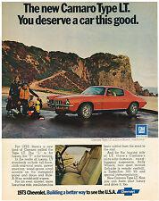 Vintage 1973 Magazine Ad Chevrolet New Camaro Type LT You Deserve Car This Good