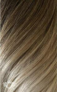 "Foxy Locks 20"" Clip In Human Hair Extensions Vanilla Frappe Ombre #T3-18A - 60g"