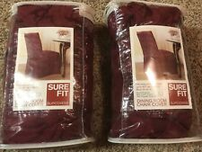dining room chair cover sure fit slipcovers burgandy lot of 2