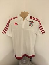 BNWT River Plate Adidas White Polo Football Shirt Size Mens Small