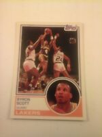BYRON SCOTT Topps First ROOKIE card! LOS ANGELES LAKERS NBA  Rc MINT