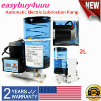 USA Electric Grease Pump Oiler Punch Grease Butter Lubrication Pump Automatic 2L