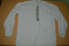 German Bavarian Austrian Trachten Loden Summer Shirt Tyrol Linen Cotton men M L