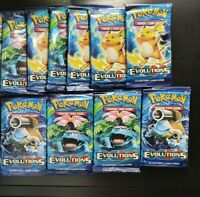 Pokemon XY Evolutions Booster Pack New And Sealed 5 PACKS.