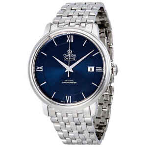 Omega De Ville Prestige Automatic Blue Dial Men's Watch 424.10.40.20.03.001