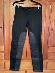 Women's Burberry Brit Skinny Leg Black Jeans Leather 28W