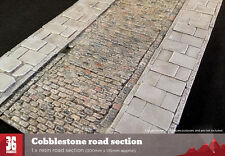 Cobblestone resin road section