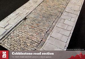 Cobblestone resin road section