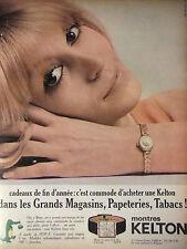 PUBLICITÉ 1966 MONTRES KELTON CADEAU DE FIN D'ANNÉE - ADVERTISING