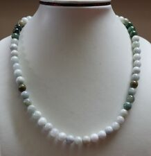 "100% Natural ""Grade A"" Beautiful Multi-Color Jadeite Jade Beads Necklace #N154"