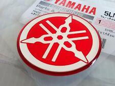 1 X Yamaha 100% Original 40MM Stimmgabel Rot Emblem Aufkleber Aufkleber Plakette