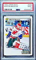 MARTIN BRODEUR 1992 Upper Deck Star Rookies RC #408 PSA 9 MINT New Jersey Devils