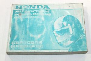 HONDA Livret Utilisation et Entretien Pour CBR900 RR 1998