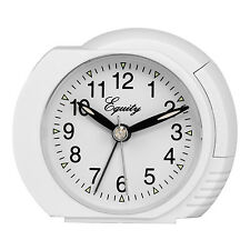 27002 Equity by La Crosse Battery Powered Analog Quartz Alarm Clock - White