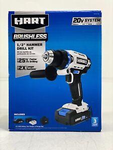 """Hart 20V Brushless 1/2"""" Hammer Drill Kit HPHD25B (39312-2)"""