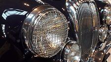Daimler Jaguar Mk1 Mk2 Stainless Steel Headlamp Stone Guards Protectors Pair