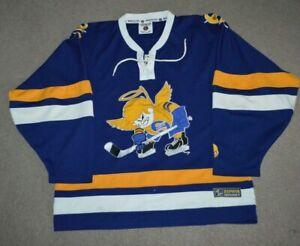 Minnesota Fighting Saints WHA Authentic Style Hockey Jersey Zephyr Fight Strap