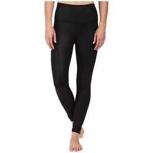 Alo Yoga Women's High Waist Airbrush Legging, Black Glossy, X-Small