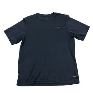 Champion Dry Fit Shirt Size Large L Navy Blue Performance DuoDRY Tee Loose Fit