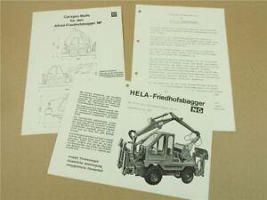 Prospekt Lanz Hela NG NF Friedhofsbagger mit AL405 + Datenblatt + Vorteile 70er