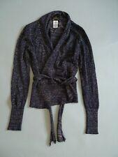 Vivienne Westwood Wool Mix Cardigan Blue Gold Glitter S Long Sleeve