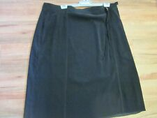BEAUTIFUL BLACK  VELVET FEEL SKIRT, SIZE  24/26 . PART ELASTIC WAIST