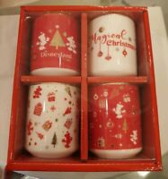 COFFRET 4 MINI TASSES NOEL / Set Of 4 Small Cups Christmas Disneyland Paris