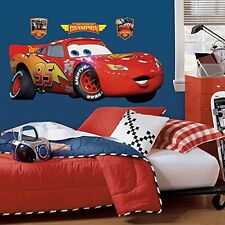 Disney Pixar Cars Lightning Mcqueen Sticker Decal Poster Toy Fathead Decoration