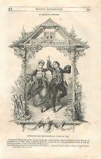 Canton de Fribourg Staat Freiburg Retour de Noce Suisse Schweiz CH GRAVURE 1850