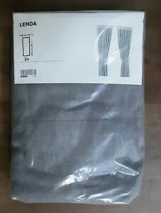 Ikea LENDA Curtains Grey 250 cm X 140 cm New Unopened Packet